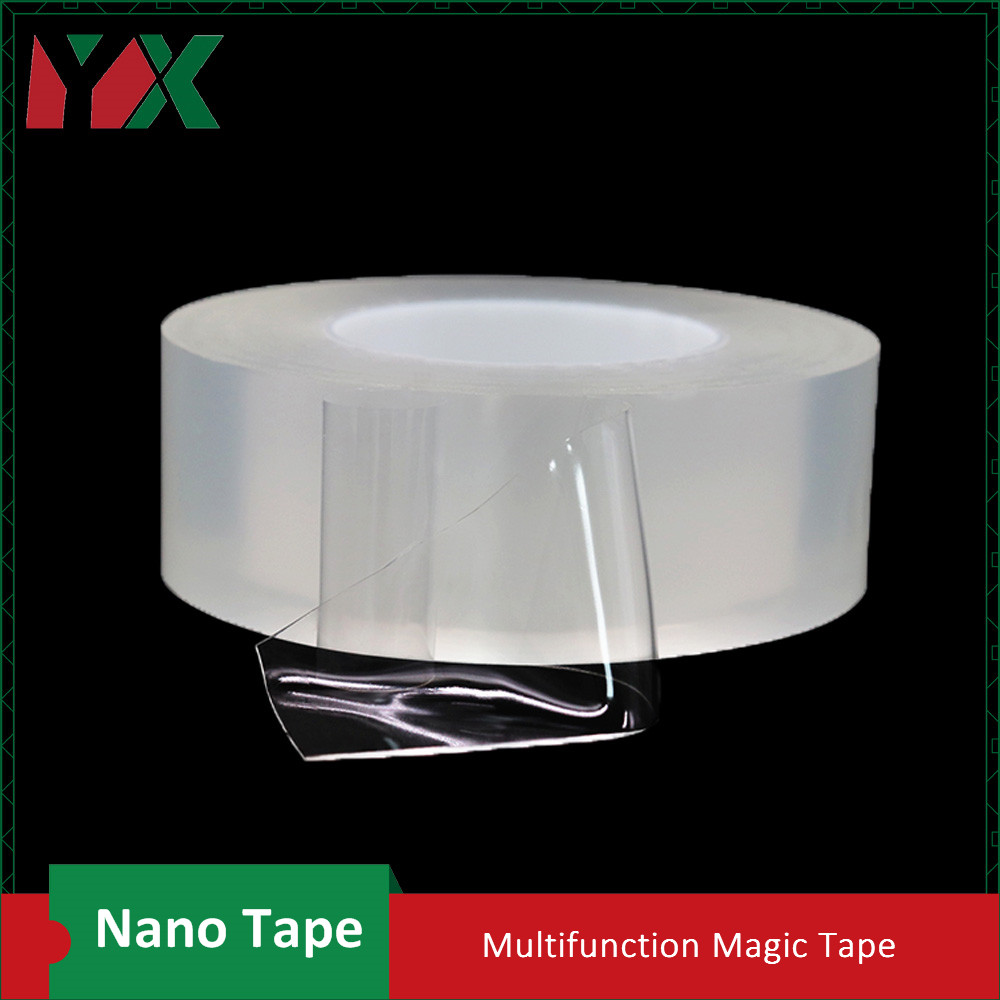 2PCS 50mmx3M Nano Tape Multifunctional Double-Sided Traceless Washable Anti-slip Adhesive Tape Reusable Recyclable Gel Grip Tape2PCS 50mmx3M Nano Tape Multifunctional Double-Sided Traceless Washable Anti-slip Adhesive Tape Reusable Recyclable Gel Grip Tape