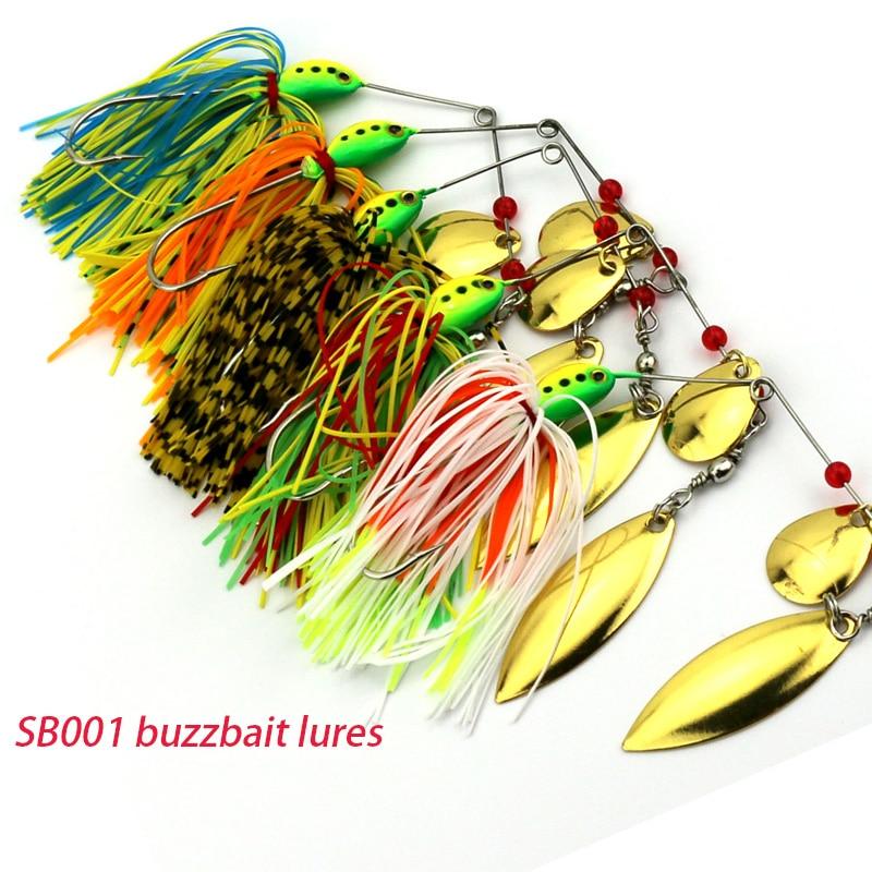 5ks 16,3G spinner lžíce buzzbaits štika olověná hlava buzzbait rybářské návnady pike peche rybářské návnady (SB001) pesca rybářské potřeby