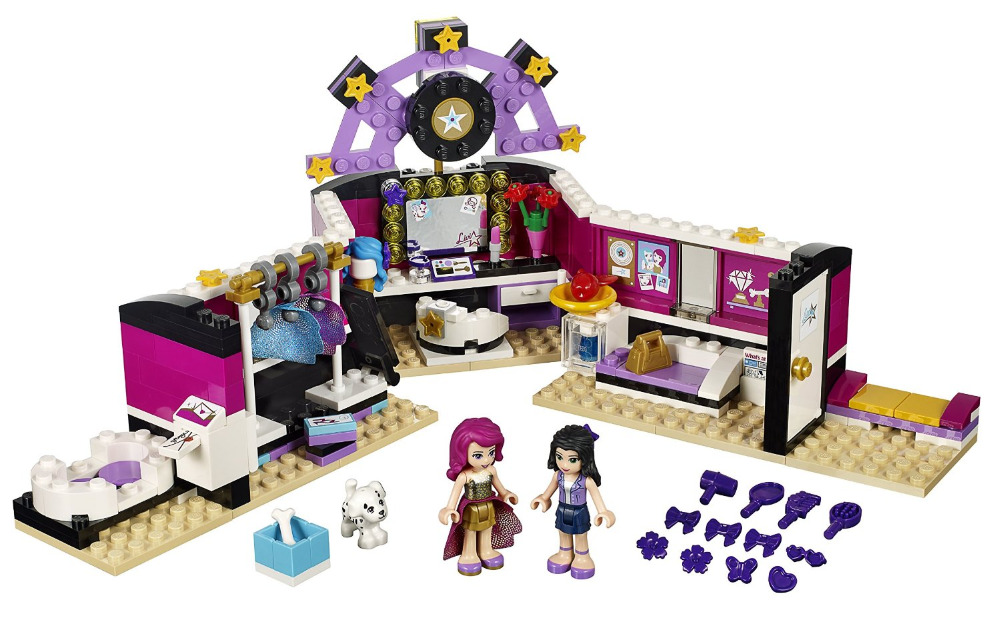 BELA Friends Series Pop Star Dressing Room Building Blocks Classic For Girl Kids Model Toys Minifigures