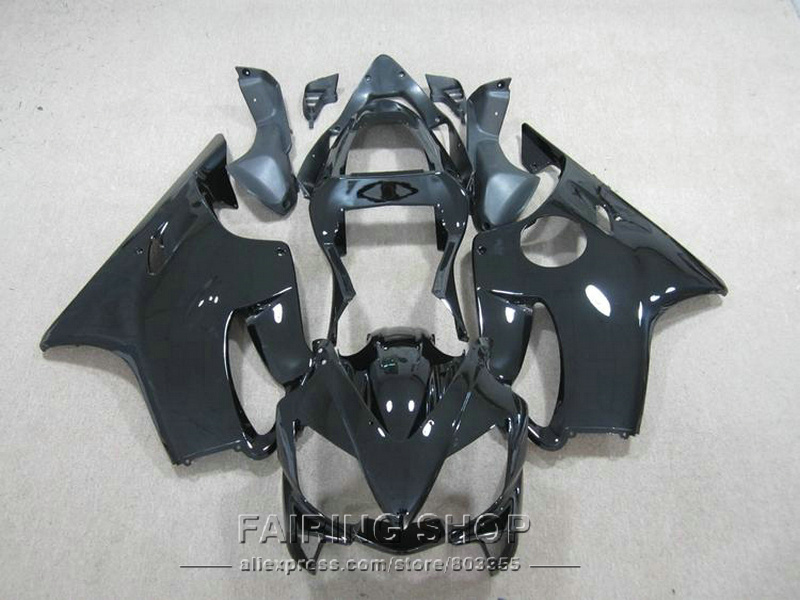 Cbr 600 f4i 01 02 03 Black Fairings for Honda CBR 600F4i 2003 2002 2001 Injection mold Fairing kit +7gifts ll119 gray moto fairing kit for honda cbr600rr cbr600 cbr 600 f4i 2001 2003 01 02 03 fairings custom made motorcycle injection molding