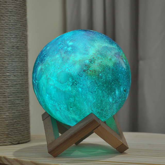 Dropship New Arrival 3D Print Star Moon Lamp Colorful Change Touch Home Decor Creative Gift Usb Led Night Light Galaxy Lamp 4