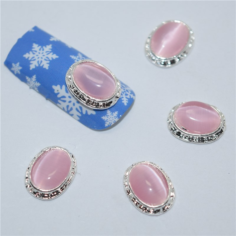 Nail Art Supplies Store: Aliexpress.com : Buy 10psc New Pink Oval Stone 3D Nail Art