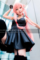 New Mirai Nikki Cosplay Gasai Yuno Halloween Daily Summer Dress Base Skirt Black Dresses