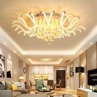 Modern Led Ceiling Chandelier Lights Crystal Home Decorative Bedroom Living Dining Room AC90 265V Ceiling Chandelier