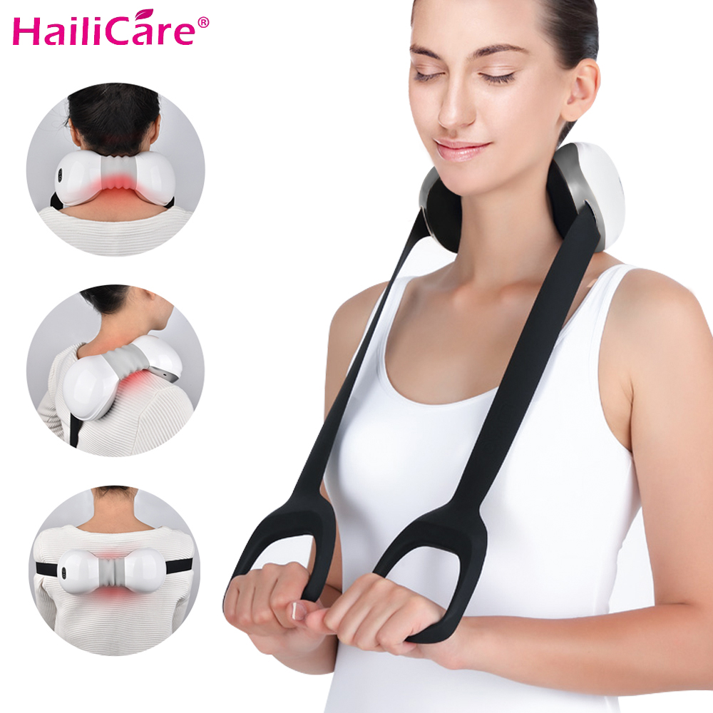 Rechargeable Electric Cervical Back Massager Infrared Heat Smart Kneading Shoulder Neck Massager USB Charging Relieve FatigueRechargeable Electric Cervical Back Massager Infrared Heat Smart Kneading Shoulder Neck Massager USB Charging Relieve Fatigue