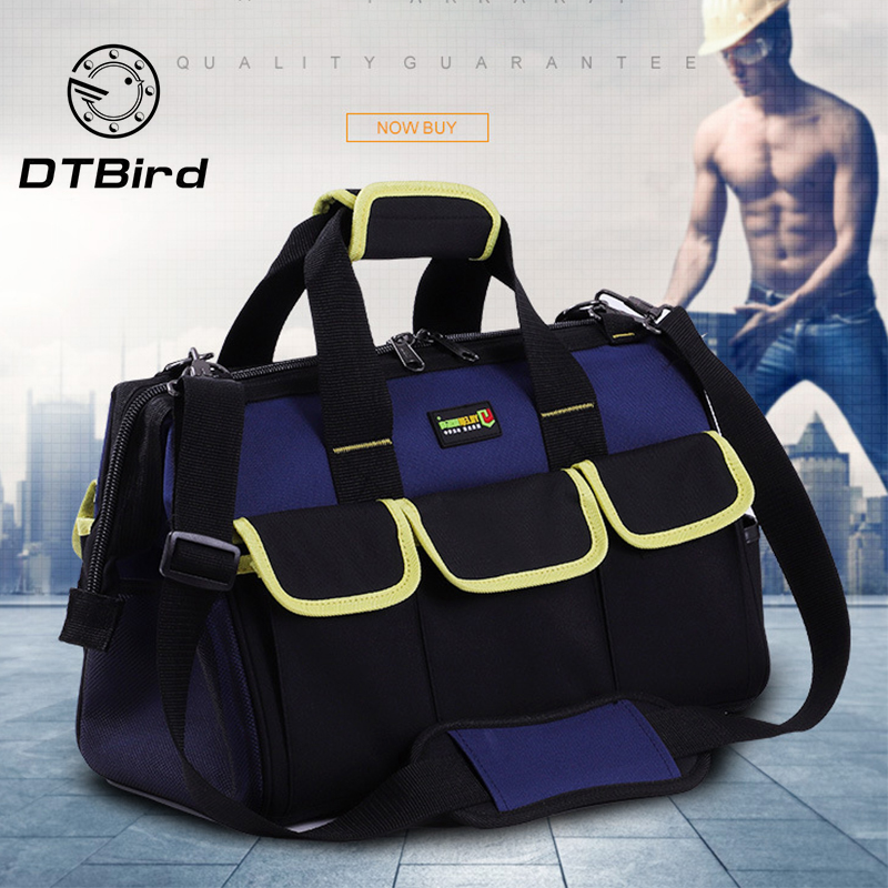 Portable Electrician Special Tool Bag Multi-function Maintenance Installation Canvas Large Thickening Tool Bag Work Pocket