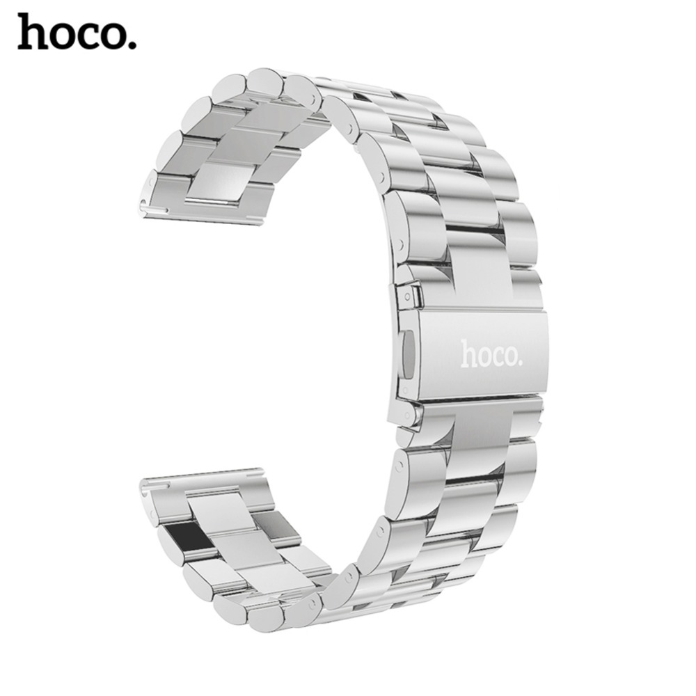 hoco New 22mm Stainless Steel Watchband for Samsung Gear S3 Classic Frontier Smart Watch Band Wrist Strap Link Bracelet Silver hoco classic stainless steel wrist strap for samsung galaxy gear s3 frontier band for samsung gear s3 classic watchband s3 strap