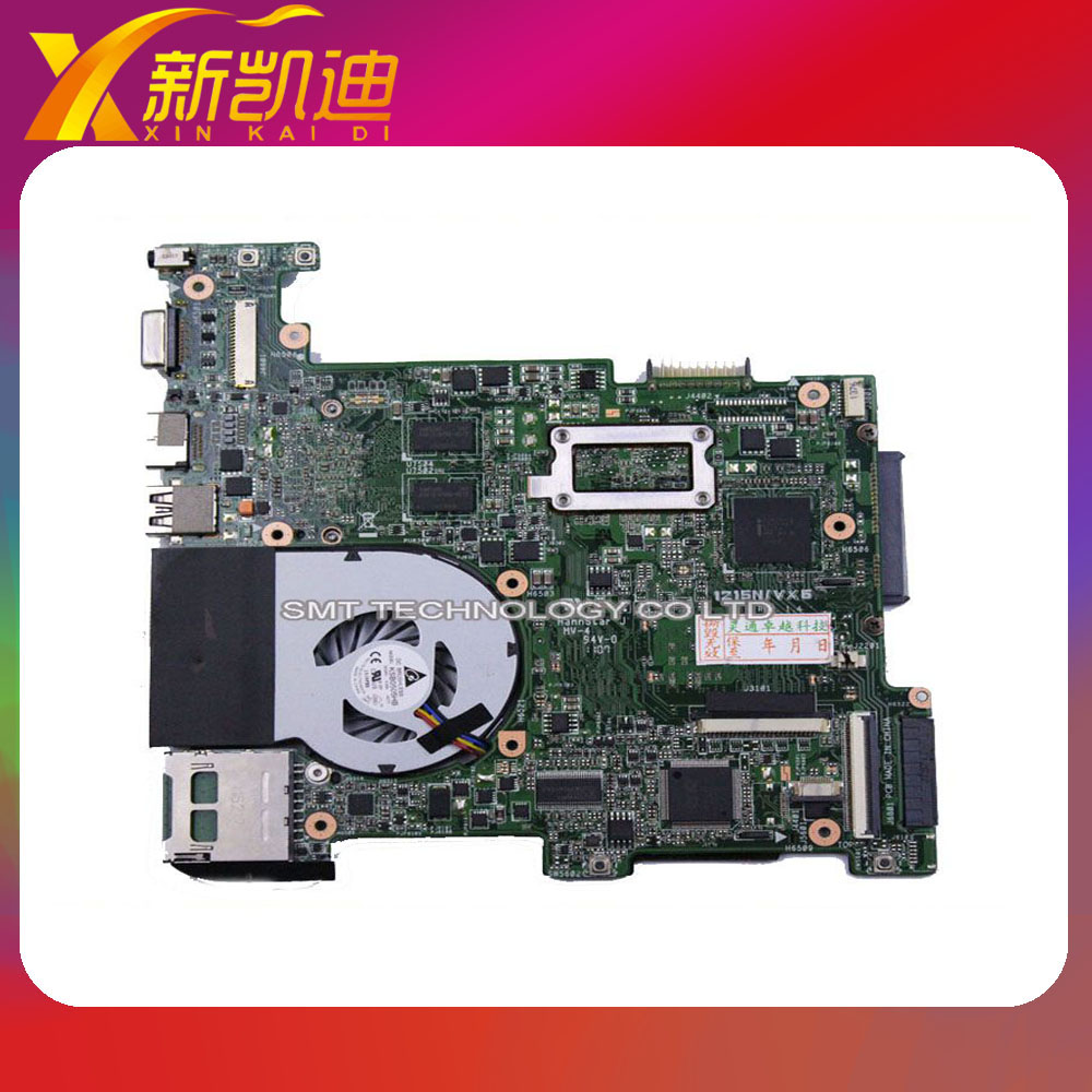 original For Asus Eee PC 1215N/VX6 laptop motherboard non-integrated mainboard rev1.4 with cooler tested working perfect eee pc 1225b motherboard for asus laptop mainboard fully tested