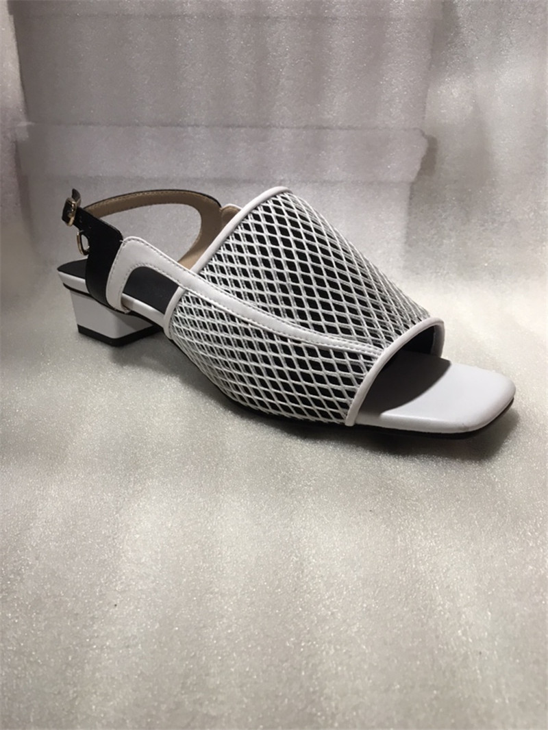 WETKISS dziwny styl kapcie kobiety lato 2019 nowe slajdy buty Party muły buty damskie Polka Dot wysokie obcasy buty kobieta
