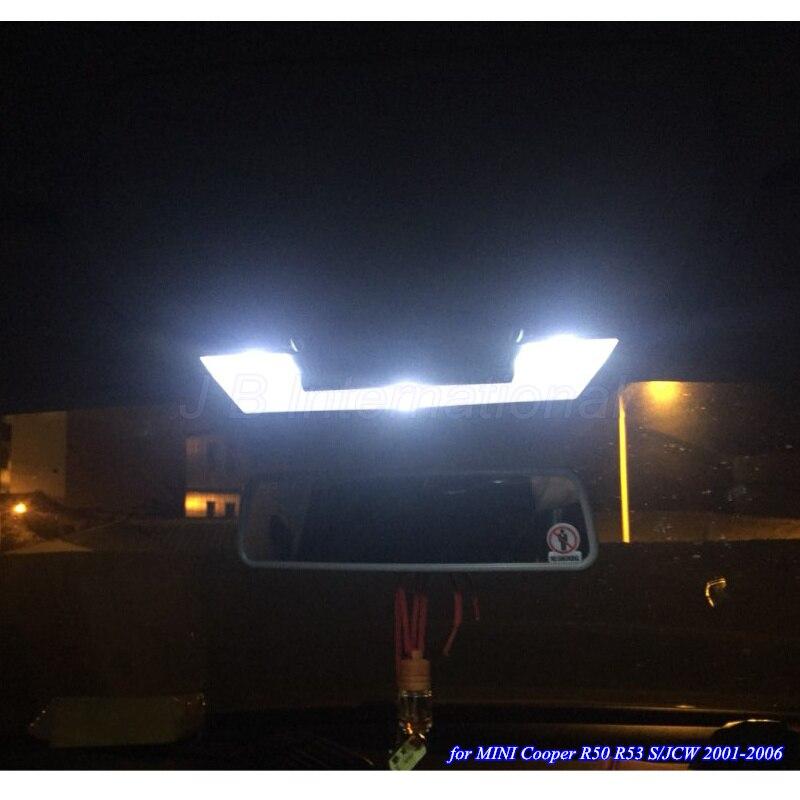 15 шт. автомобиль свет для Mini Cooper R50 <font><b>R53</b></font> S/JCW 2001-2006, белый Внутреннее освещение лампы для мини 2001-2006 двери купола лампы