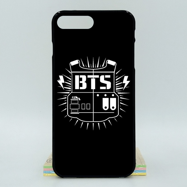 half off 2a2a6 563bd US $3.38 11% OFF|For Apple iPhone 8 Plus BTS Bangtan Boys 2D Paiting Back  Silicon Cover For iPhone X Soft TPU Covers-in Half-wrapped Case from ...