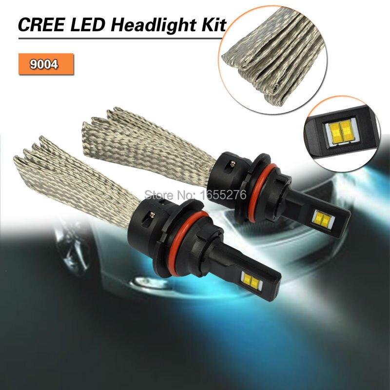 ФОТО TAITIAN 60W LED Car Headlight Conversion Kit  9004 Hi/Lo 6500K Cool White Fog DRL Replace Light Source Driving Bulbs Pair