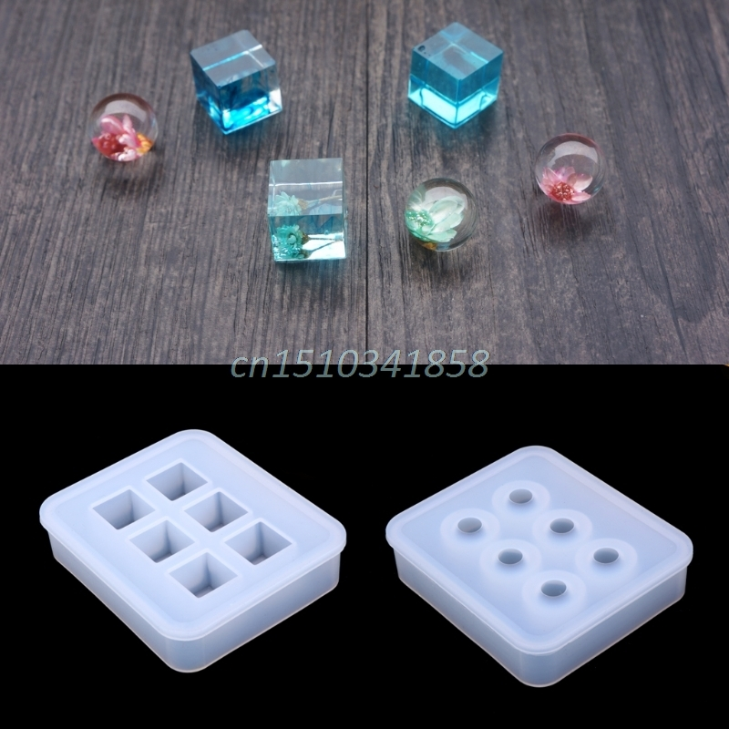 купить Silicone Pendant Mold Making Jewelry For Resin Necklace Mould Craft DIY Tool New онлайн