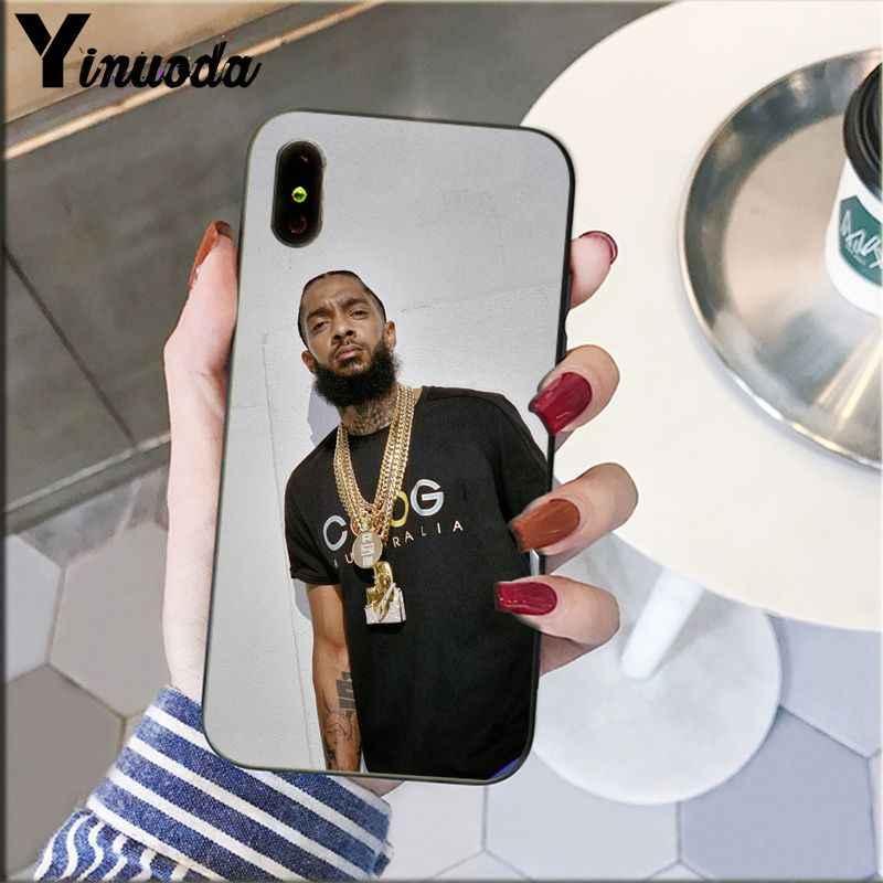 Yinuoda rappeur Nipsey Hussle modèle téléphone accessoires coque de téléphone portable pour Apple iPhone 8 7 6 6S Plus X XS MAX 5 5S SE XR couverture