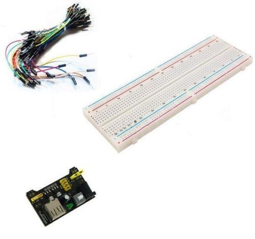 MB102 830 points sans soudure PCB planche à pain + 65 pièces sauter câbles fils + alimentation HO