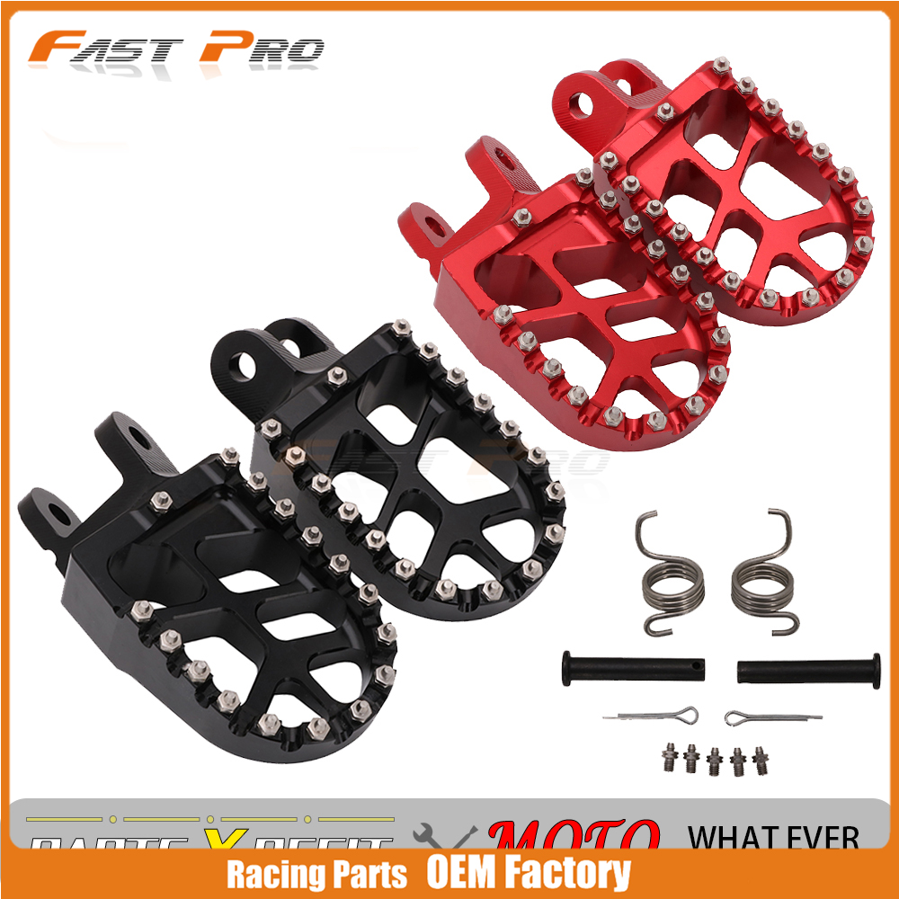 Motorcycle Footrest Footpegs Foot Rest Foos Peg For <font><b>Honda</b></font> CR85 XR250 XR450 XR350R XR600R CRF1000L <font><b>XR</b></font> 250 450 <font><b>350</b></font> 600 CRF230L image