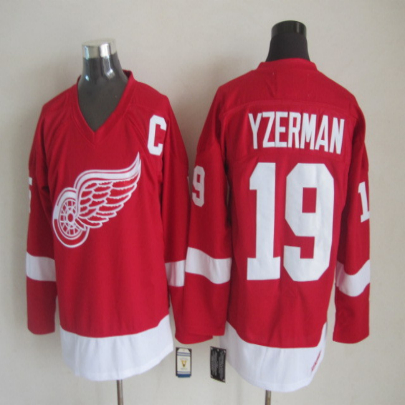 8442b5dc947 detroit red wings 19 steve yzerman white throwback ccm jersey steve yzerman  jersey authentic red wings