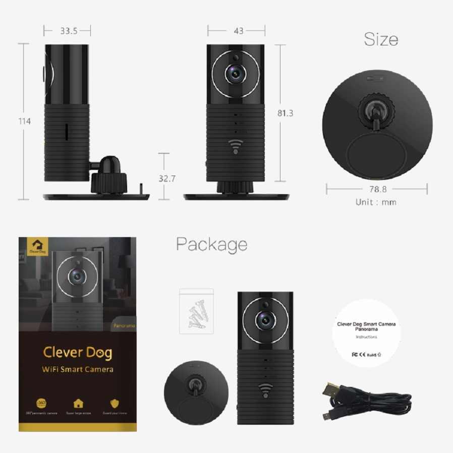 كاميرا بانورامية ذكي الكلب 960P واي فاي كاميرا صغيرة كاميرا تلفزيونات الدوائر المغلقة 1.3MP HD الطفل الأمن IP كاميرا مراقبة فيديو فيديكام مربية