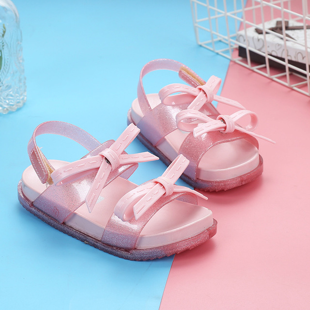 KIDS GIRLS TODDLERS CHILDRENS FLAT SUMMER BEACH JELLY SHOES SANDALS FASHION SIZE