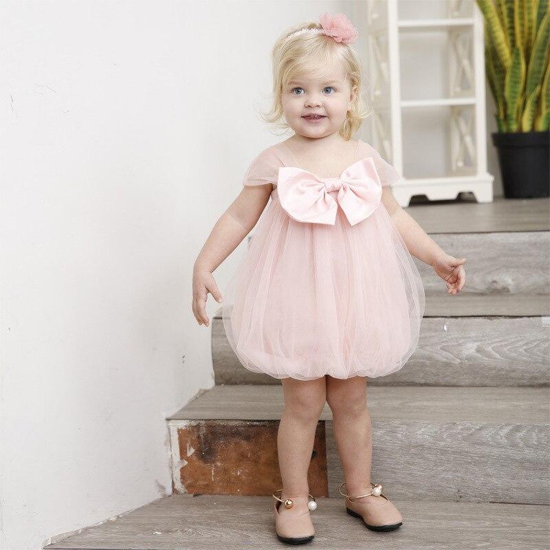 Yoyoxiu 2018 zomer baby meisje jurk roze schattige baby jurk net - Babykleding - Foto 3