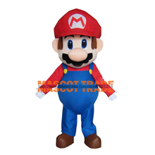 Adult Size Super Mario Mascot Costume Fancy Dress Lovely Brothers Suit HOT!
