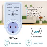 GSM Smart Socket SMS Commands SIM Card Supported Remote Turn On Off Electronics Function Temperature Timing