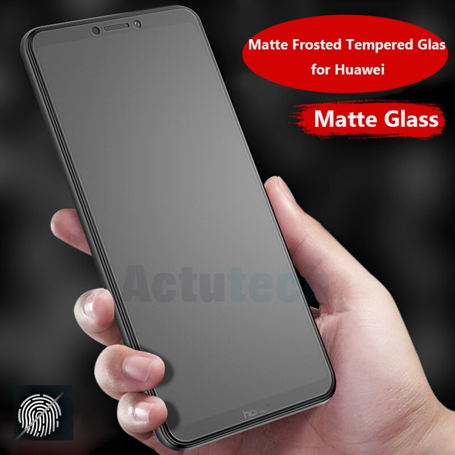 Screen Protector For Huawei Honor 8 9 No Fingerprint Matte Frosted Tempered Glass View P20 P30 Pro P Smart Plus Glass Nova