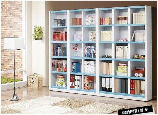 een blauwe grote boekenkast boekenrek