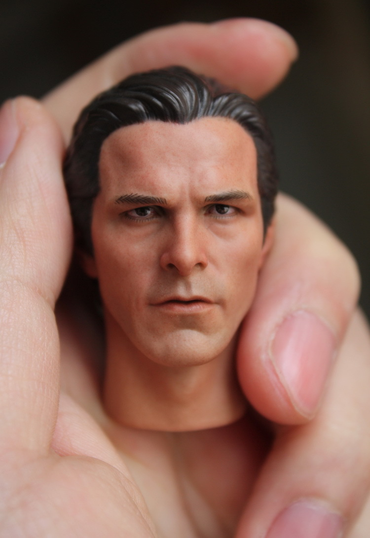 1/6 Batman Bale Head Sculpture doll Parts for 12inch Action Figure,Body and clothes are not included 1 6 batman joker heath ledger mask headsculpt for 12inch doll parts body clothes and body are not included