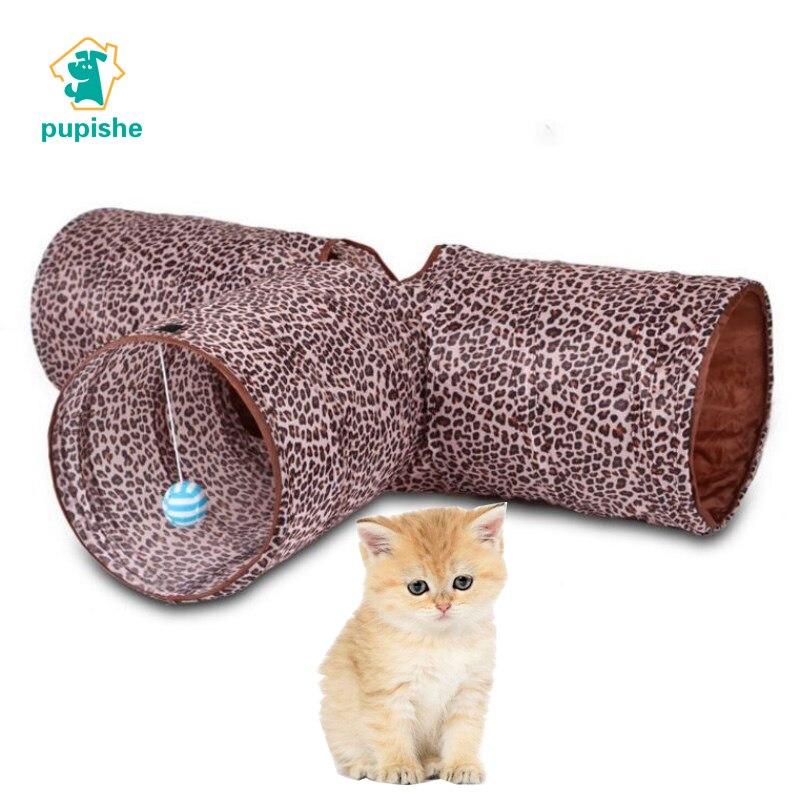PUPISHE 80cmPet Cat Tunnel Indoor Outdoor Pet Cats Training Toys for Cat Kitten Rabbit Animals Play Tunnel Tubes