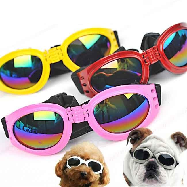 Hot lipat Pet Dog Kacamata medium Pet kacamata tahan air Anjing Besar  Anjing kacamata Besar Kacamata Perlindungan UV Kacamata a7eeee7496