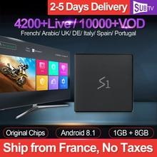 Leadcool S1 Tv Box Android 8.1 4K IPTV France Subscription RK3229 1GB 8GB SUBTV 1 Year IPTV UK Arabic French Italia Netherlands