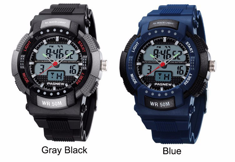361 - detail - 2018 Free Shipping Fashion Men Watch Waterproof Sport Men Wristwatch S Quartz Digital Boy Clock Relogio Masculino (7)