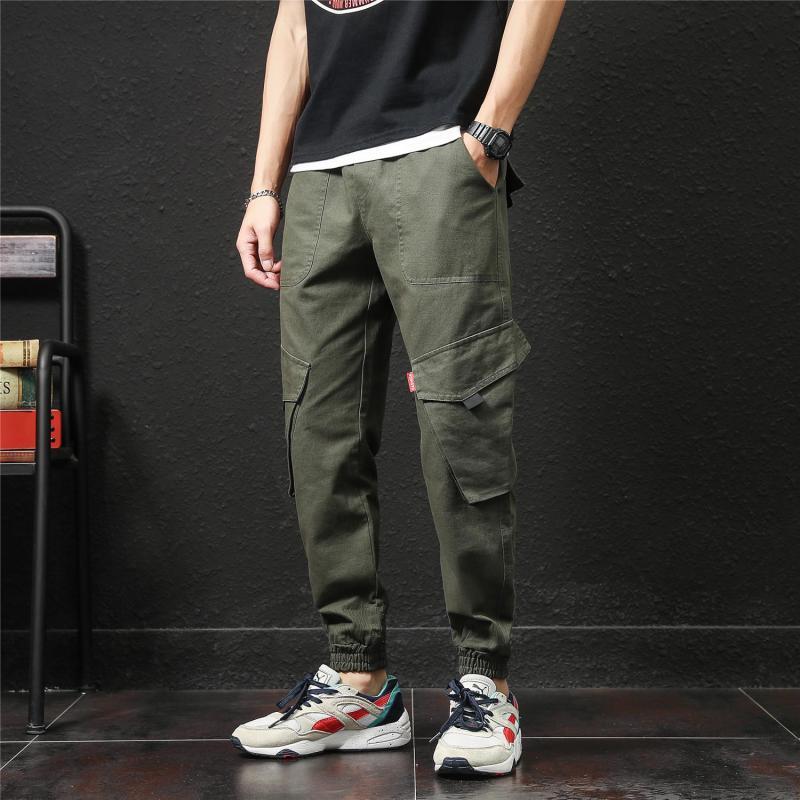 5XL 4XL Elastic Waist Tactical Pants Casual Plus Size Men Trousers Workout Streetwear Vintage Mens Military Cargo Pants XXXXXL