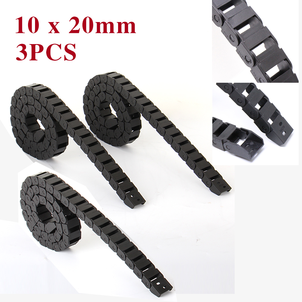 ୧ʕ ʔ୨Brand NEW 10 x 20mm CNC kabelkette offen 1000mm Wire Carrier ...