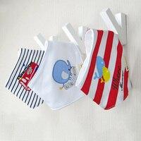 Cartoon Newborn Baby Bibs Striangl Double Layers Bandanas Feeding Baby Saliva Towel Print Apron Burp Cloths