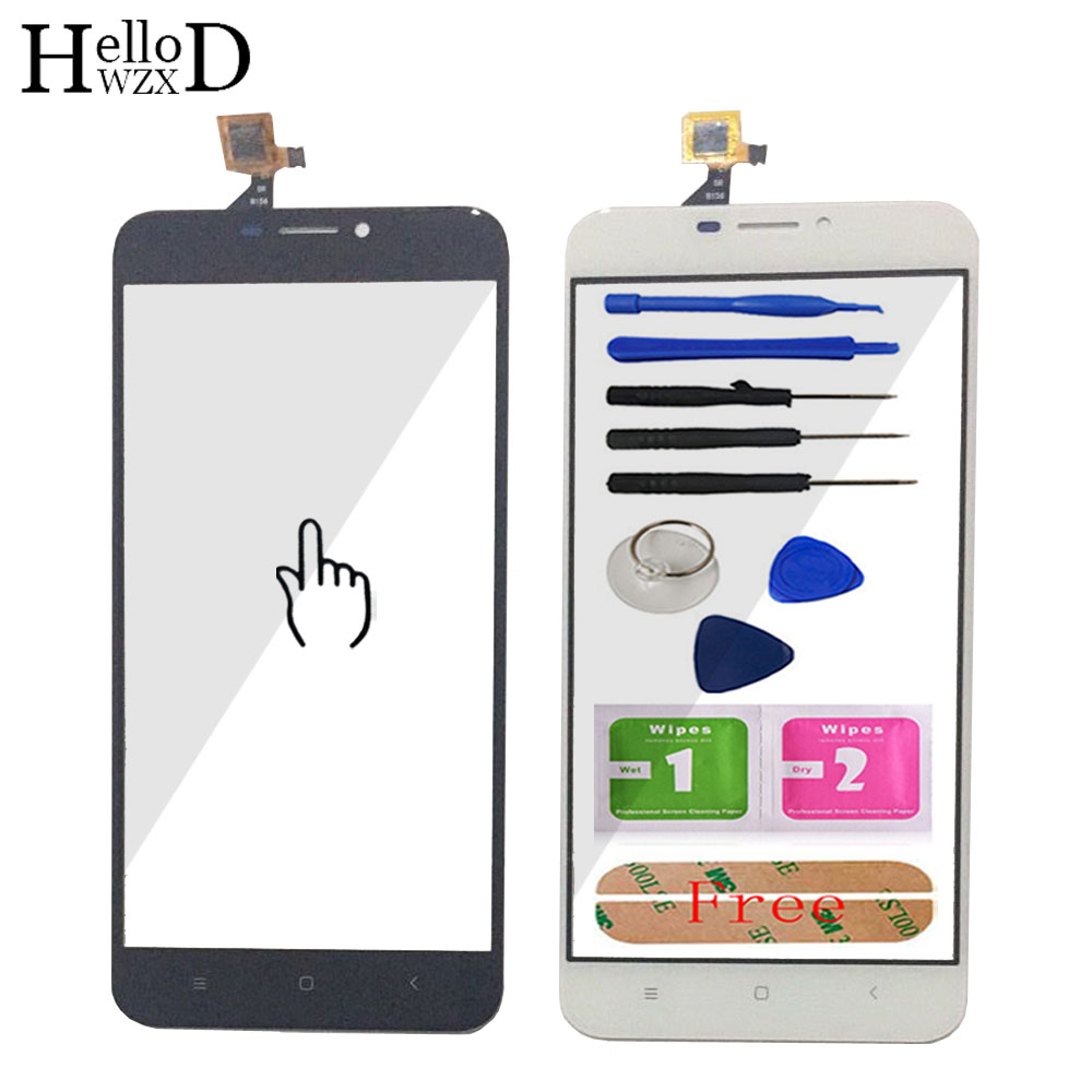 HelloWZXD 5.5'' For Oukitel U20 Plus Touch Screen Glass Digitizer Panel Touchscreen Front Glass Lens Sensor Free Adhesive