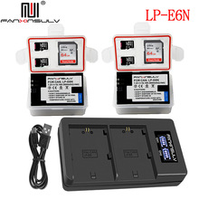 LP-E6N LP-E6 Battery USB Charger for canon eos r 5d mark iv mark iii mark ii 60d 6d ii 7d ii 70d 80d 5drs DSLRL15 Camera tracked