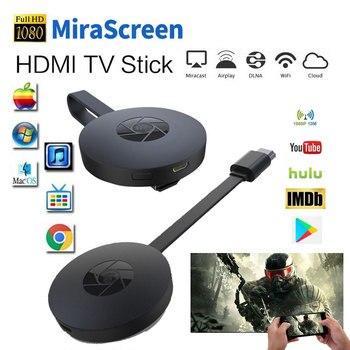 Miracast Android TV Stick MiraScreen WiFi ТВ ключ приемник 1080P дисплей DLNA Airplay медиа стример адаптер