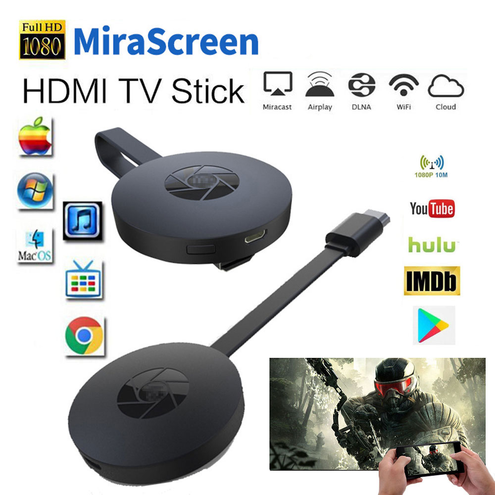 Miracast Android TV Vara MiraScreen WiFi TV Exibição Dongle Receptor 1080P Adaptador DLNA Airplay Media Streamer