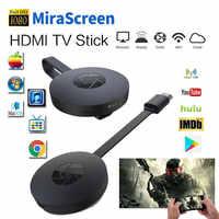 Miracast android tv vara mirascreen wi-fi tv dongle receptor 1080 p display dlna airplay mídia streamer adaptador
