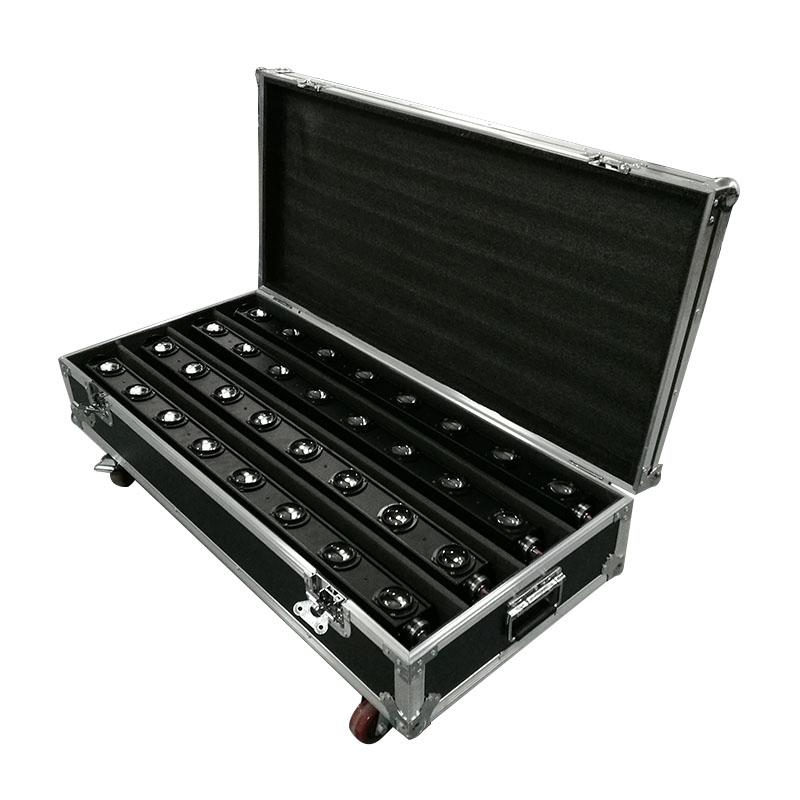 FlightCase with 4pcs LED 8x12W Bar Beam Moving Head Light RGBW Perfect for Mobile DJ, Party, nightclub 2pcs lot led bar beam moving head light rgbw 8x12w perfect for mobile dj party nightclub