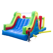 Inflatable Game Cama Elastic With Tunnel Climbing Wall Trampoline Obstacle Inflatable Bouncer Slide Bounce House Best Gift
