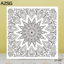 AZSG Line Style Regular Shape Clear Stamps/Seals For DIY Scrapbooking/Card Making/Album Decorative Silicone Stamp Crafts