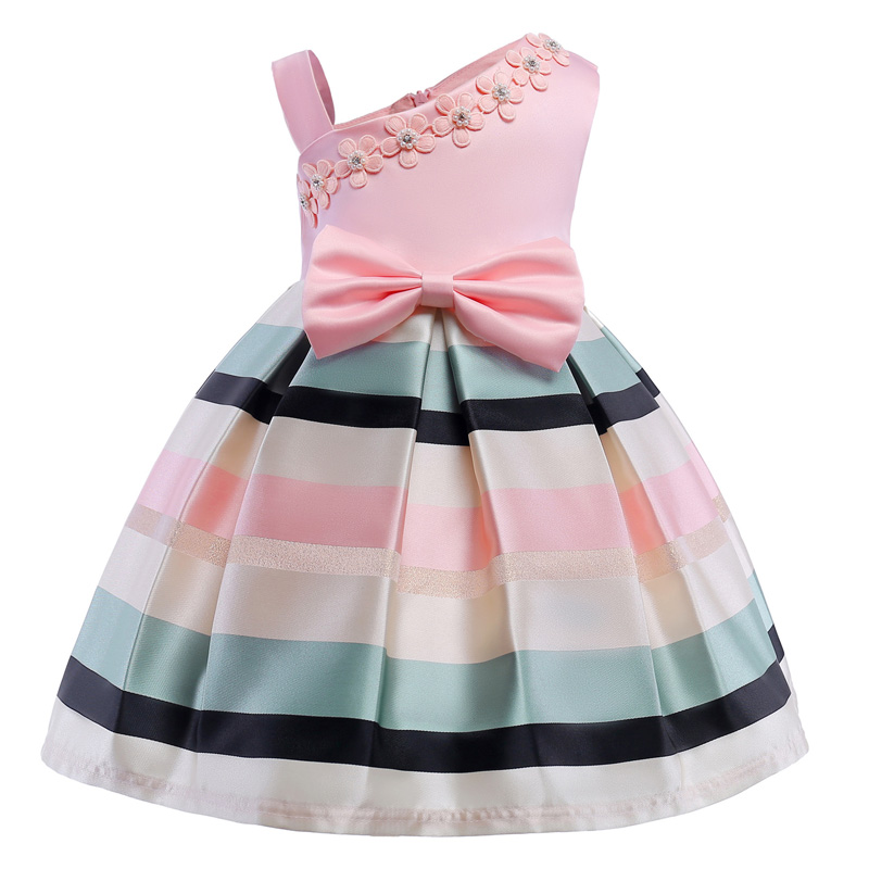 LZH Flower Girls Dress For Wedding and Party Dresses For Girls Striped Princess Dress Kids Dresses 2018 Summer Children Cothing ...