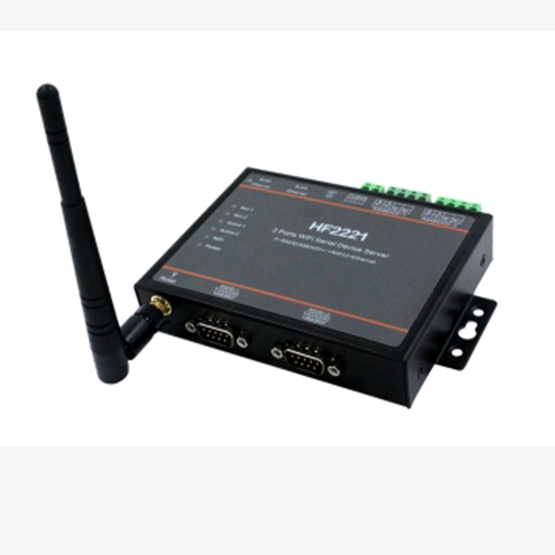 HF2221 HF5142 2/4 Ports Wifi Serial Device Server RS232/RS422/RS485 to Ethernet / Wi-Fi Serial Server