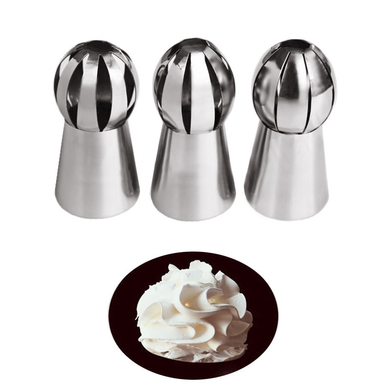 3Pcs/Set Russian Tulip Nozzle For Cake Cupcake Icing ...