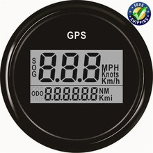Auto Tuning Gauges 52mm Digital GPS Speedometers 0-999 Display Speed Indicators with GPS Antenna for Automobile Ship Black