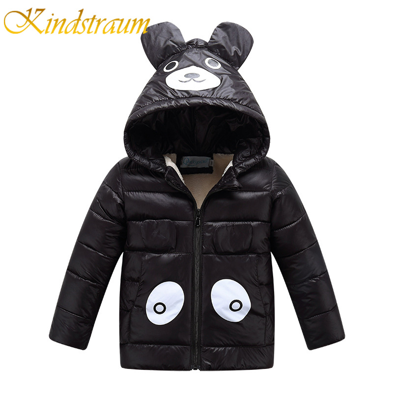 Kindstraum New Winter Kids Warm Cotton Coat Character Bear Jacket Hooded Boys Girls Cartoon Hat Children Casual Outwear, MC804 2016 winter dinosaur monster jacket fashion girls boys cotton hooded coat children s jacket warm outwear kids casual wear 16a12