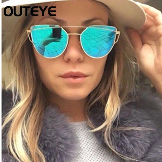OUTEYE Marca de Moda Óculos De Sol Mulheres Olho De Gato Óculos Óculos de  Sol Masculino ... 4492a4470d